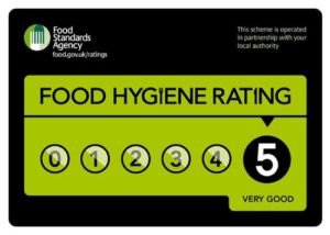 Food Standards Agency Certificate