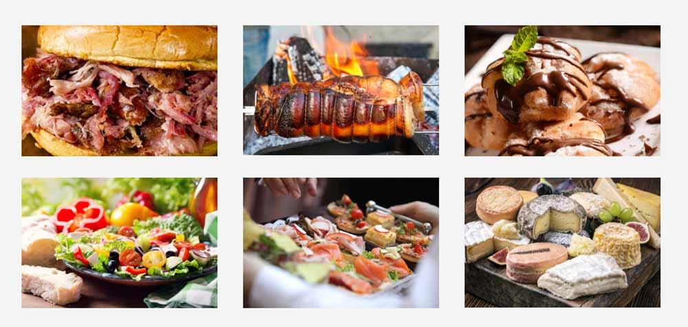 Hog roast for events - menu