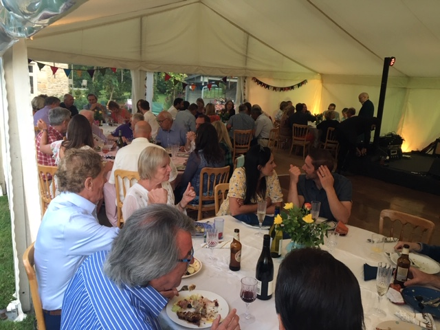Marquee at party in Lechlade - catering by All Events Hog Roast