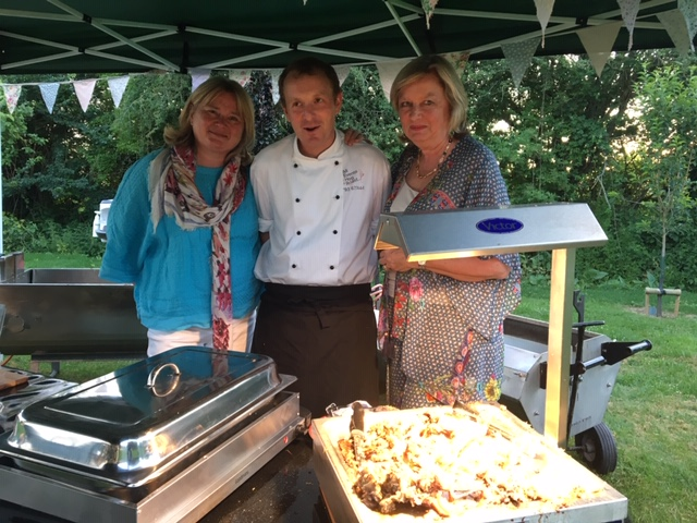 Hostess at party in Lechlade - catering by All Events Hog Roast