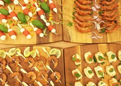 Catering food for events - Canapes for Hog Roast- All Events Hog Roast Swindon