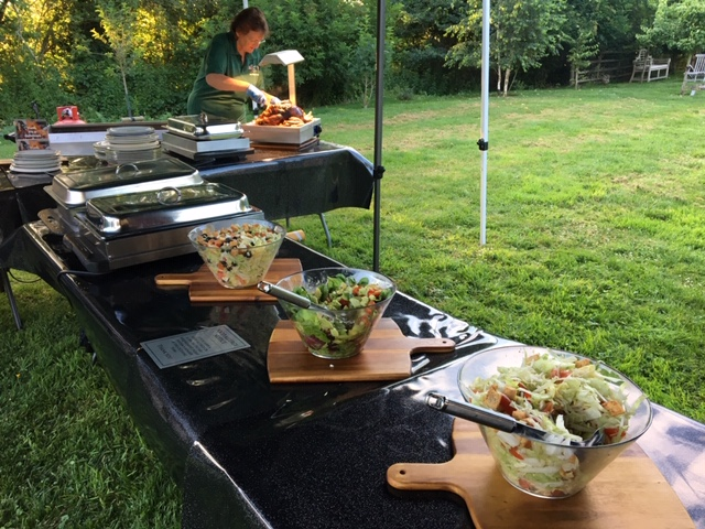 Delicious salads as part of catering by All Events Hog Roast
