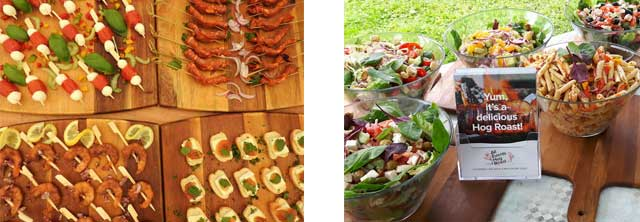 Catering - Hog Roast with canapés and salads