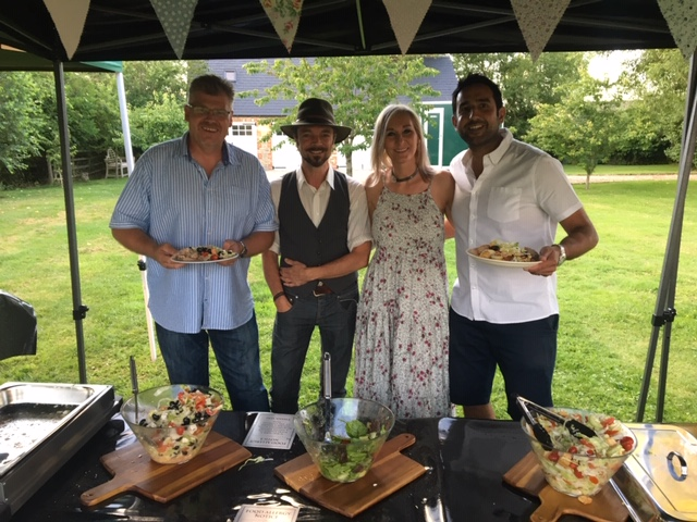 Guests at a party in Lechlade - catering by All Events Hog Roast