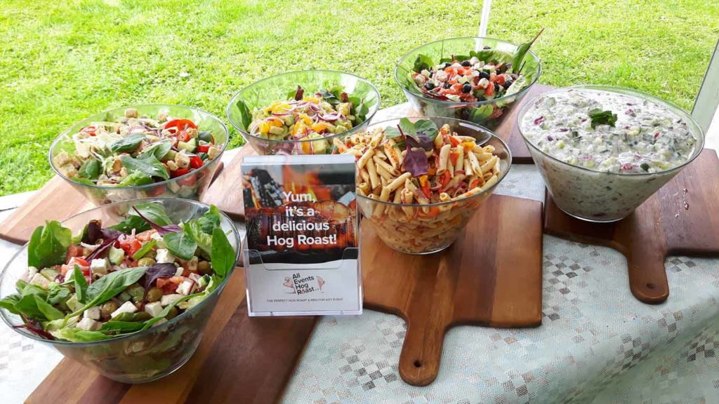 hog-roast-salads-at-wedding