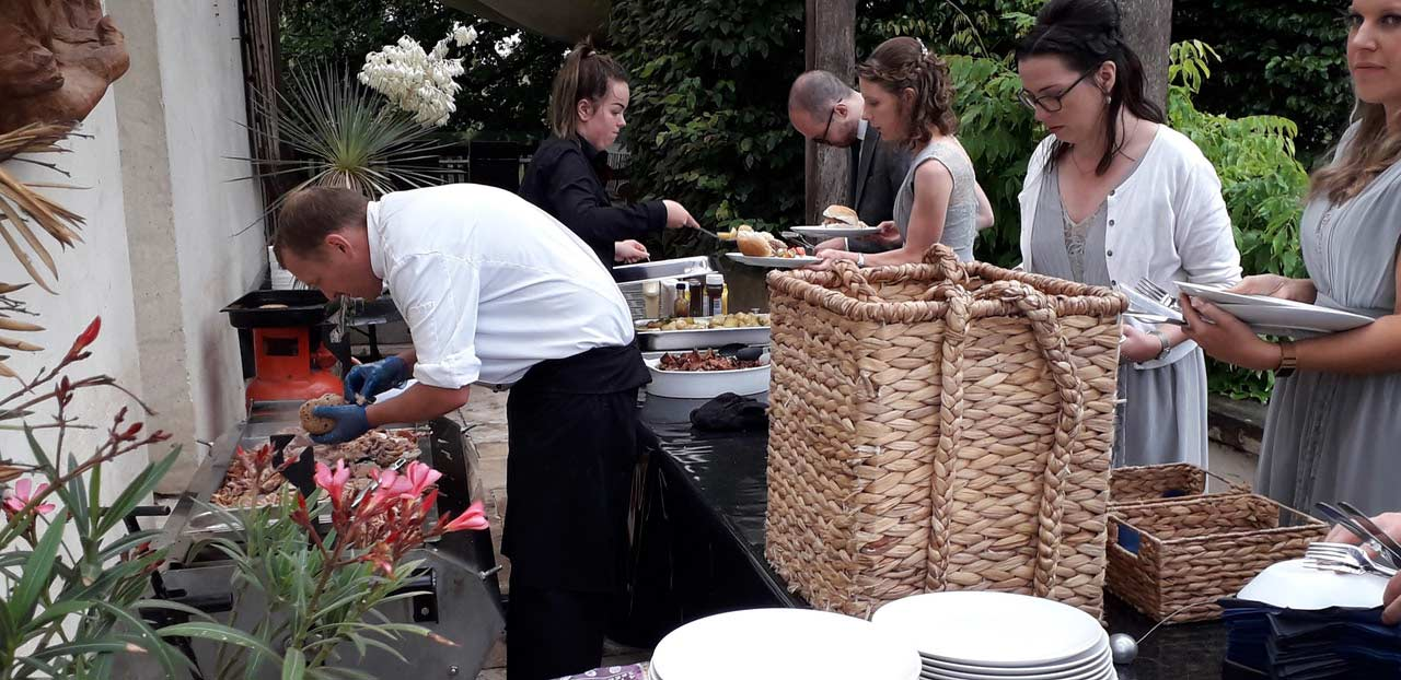 Hog Roast for a Wedding at Abbey House, Malmesbury