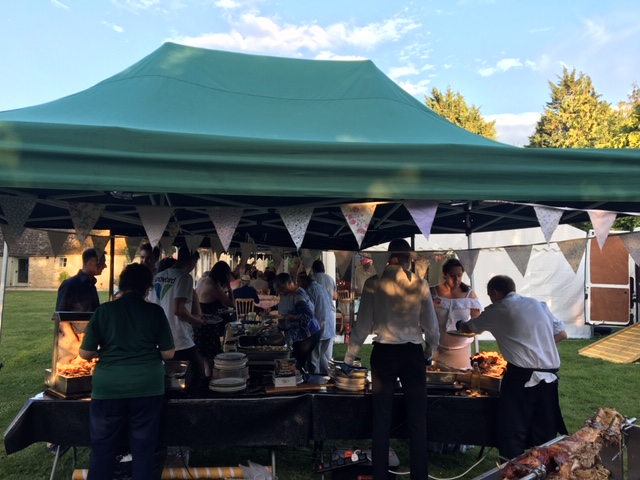All Events Hog Roast catering for a party in Lechlade