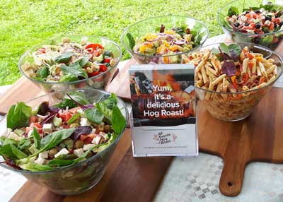 scrumptious salads for Hog Roast