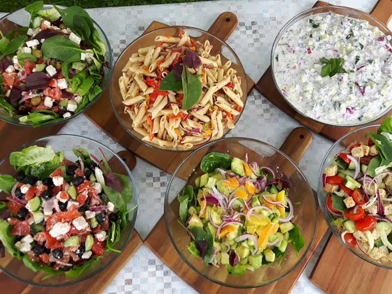A Selection of scrumtious salads
