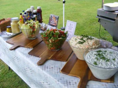 wedding day catering salads