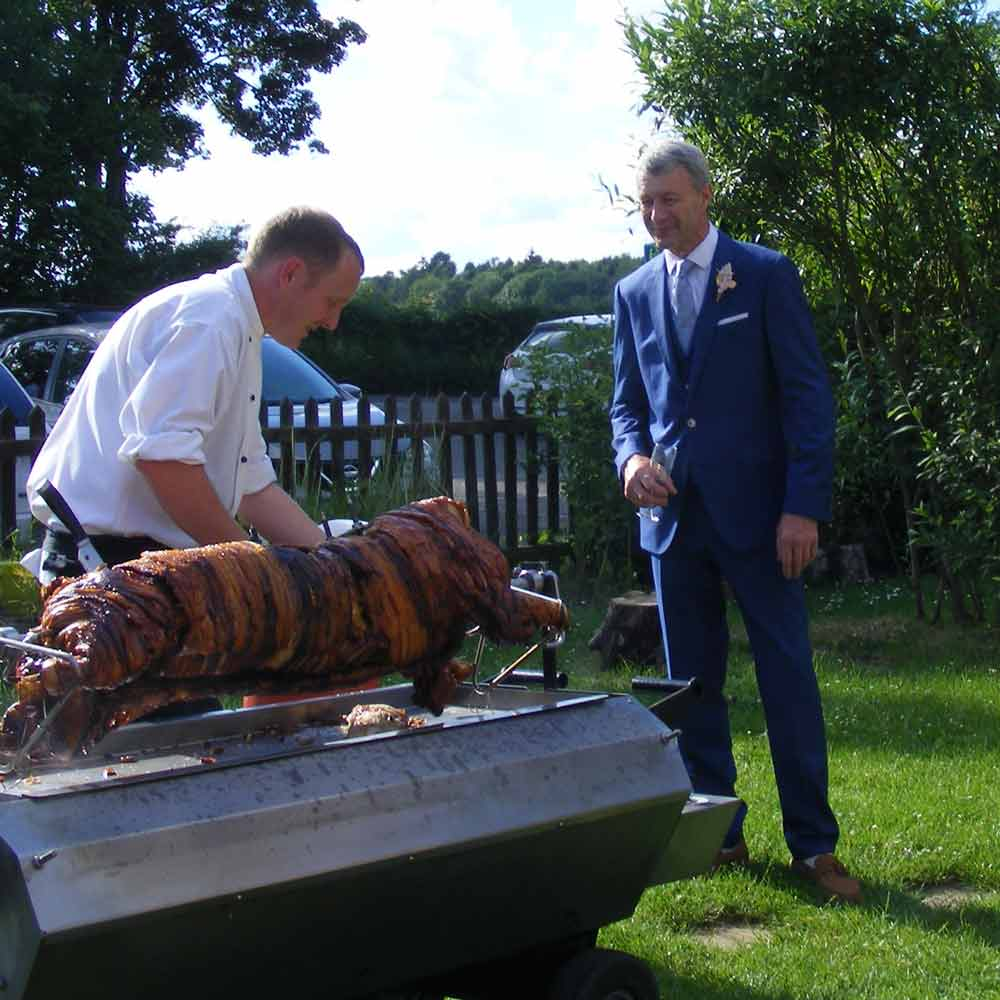 Wedding party hog roast event - Mark Catherall